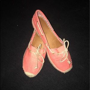 Sperry Topsiders Bluefish Boat Shoe Coral Canves